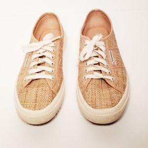 Superga Woven Raffia Sneaker Size 9